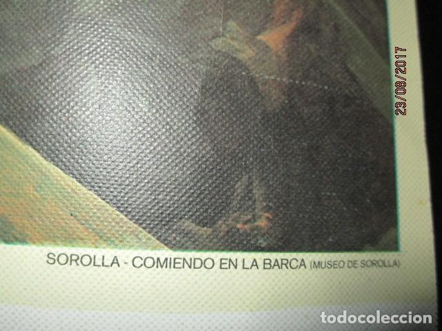 Arte: COMIENDO EN BARCA MUSEO SOROLLA CROMOLITOGRAFIA ANTIGUA EN lienzo IMPRIME J.S. - Foto 2 - 154129886