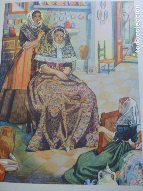 MALLORCA PAYESAS MALLORQUINAS CROMOLITOGRAFIA AÑOS 40 TEODORO DELGADO ILUSTRADOR (Arte - Cromolitografía)