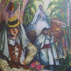 Arte: TENERIFE TIPOS CANARIOS CROMOLITOGRAFIA AÑOS 40 TEODORO DELGADO ILUSTRADOR. Lote 200828677