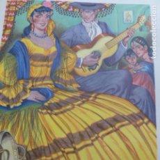 Arte: GRANADA GITANOS CROMOLITOGRAFIA AÑOS 40 TEODORO DELGADO ILUSTRADOR. Lote 200828997