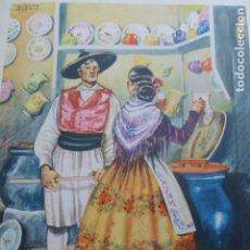 Arte: MURCIA TIPOS MURCIANOS CROMOLITOGRAFIA AÑOS 40 TEODORO DELGADO ILUSTRADOR. Lote 200829306