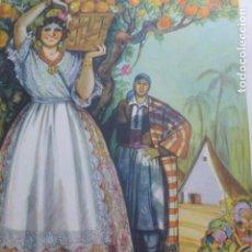 Arte: VALENCIA TIPOS VALENCIANOS DE LA HUERTA CROMOLITOGRAFIA AÑOS 40 TEODORO DELGADO ILUSTRADOR. Lote 200829538