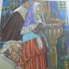 Arte: RONCAL NAVARRA TIPOS RONCALESES CROMOLITOGRAFIA AÑOS 40 TEODORO DELGADO ILUSTRADOR. Lote 200830261