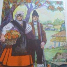 Arte: ASTURIAS TIPOS ASTURIANOS CROMOLITOGRAFIA AÑOS 40 TEODORO DELGADO ILUSTRADOR. Lote 200830471