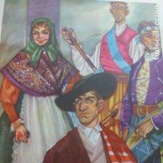 Arte: LEON ASTORGA TIPOS MARAGATOS Y MONTAÑESES CROMOLITOGRAFIA AÑOS 40 TEODORO DELGADO ILUSTRADOR. Lote 200830615