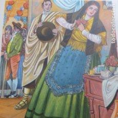 Arte: SORIA TIPOS SORIANOS CROMOLITOGRAFIA AÑOS 40 TEODORO DELGADO ILUSTRADOR. Lote 200830717