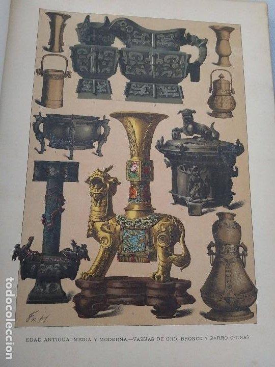 Arte: EXCEPCIONAL VOLUMEN SIGLO XIX CON MÁS DE 170 CROMOLITOGRAFIAS COMPENDIO DE LA E. ANTIGUA A MODERNA - Foto 7 - 201107672