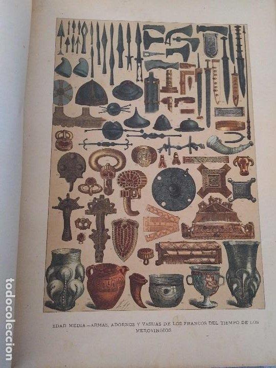 Arte: EXCEPCIONAL VOLUMEN SIGLO XIX CON MÁS DE 170 CROMOLITOGRAFIAS COMPENDIO DE LA E. ANTIGUA A MODERNA - Foto 9 - 201107672