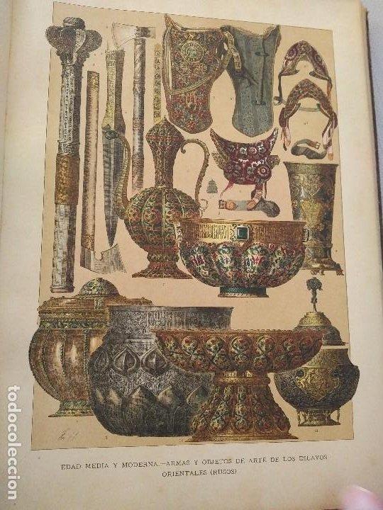 Arte: EXCEPCIONAL VOLUMEN SIGLO XIX CON MÁS DE 170 CROMOLITOGRAFIAS COMPENDIO DE LA E. ANTIGUA A MODERNA - Foto 17 - 201107672