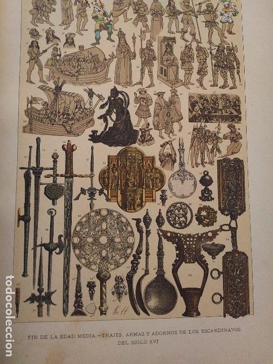 Arte: EXCEPCIONAL VOLUMEN SIGLO XIX CON MÁS DE 170 CROMOLITOGRAFIAS COMPENDIO DE LA E. ANTIGUA A MODERNA - Foto 22 - 201107672