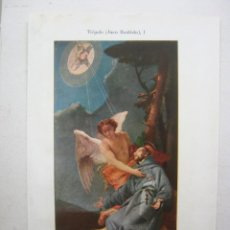 Arte: BELLA CROMOLITOGRAFIA TIÉPOLO - LLAGAS DE SAN FRANCISCO - ESPASA 1900. Lote 201183663