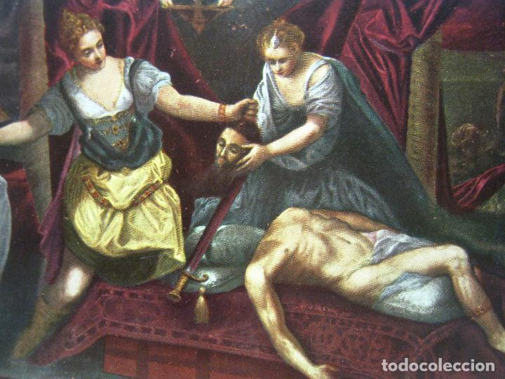 Arte: Bella cromolitografia Tintoretto - La muerte de Holofernes - Espasa 1900 - Foto 2 - 201184361