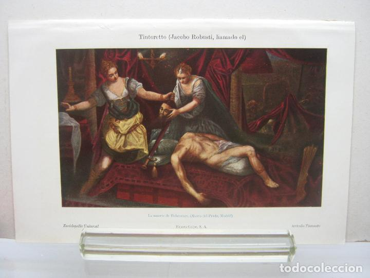 BELLA CROMOLITOGRAFIA TINTORETTO - LA MUERTE DE HOLOFERNES - ESPASA 1900 (Arte - Cromolitografía)