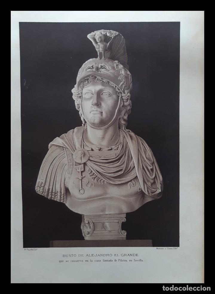 ALEJANDRO MAGNO, CROMOLITOGRAFÍA SIGLO XIX (Arte - Cromolitografía)