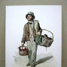 Arte: BELLA LAMINA CROMOLITOGRAFIA - EL TRAPERO - FRANCESCO DE BOURCARD. Lote 202378527