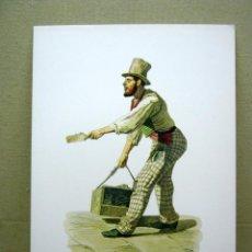 Arte: BELLA LAMINA CROMOLITOGRAFIA CARTON - LIMPIABOTAS - FRANCESCO DE BOURCARD. Lote 202378582