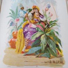 Arte: TULIPAN LIT DE C VERDAGUER J SIMON 1878 ILUSTRACION MODERNISTA MUJER FLOR. Lote 204315476