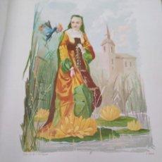 Arte: NENUFAR LIT DE C VERDAGUER J SIMON 1878 ILUSTRACION MODERNISTA MUJER FLOR. Lote 204315673