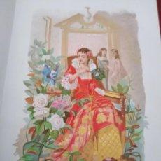 Arte: CAMELIA LIT DE C VERDAGUER J SIMON 1878 ILUSTRACION MODERNISTA FLOR MUJER. Lote 204316265