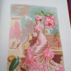 Arte: PEONIA LIT DE C VERDAGUER J SIMON 1878 ILUSTRACION MODERNISTA FLOR MUJER. Lote 204316702