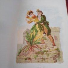 Arte: ALELI LIT DE C VERDAGUER J SIMON 1878 ILUSTRACION MODERNISTA FLOR MUJER. Lote 204317668