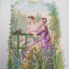 Arte: JUNQUILLO Y TUBEROSA LIT DE C VERDAGUER J SIMON 1878 ILUSTRACION MODERNISTA FLOR MUJER. Lote 204317971