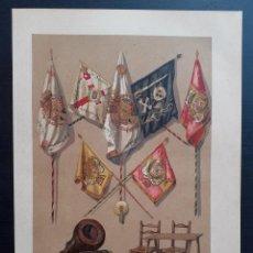 Arte: RECUERDO DE LA PRIMERA GUERRA CIVIL CARLISTA - CROMOLITOGRAFÍA ORIGINAL - CA. 1880. Lote 204472928