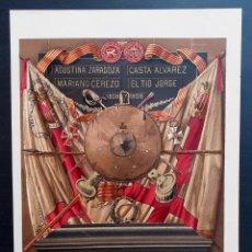 Arte: TROFEO CONMEMORATIVO DE LOS SITIOS DE ZARAGOZA - GUERRA DE INDEPENDENCIA - CROMOLITOGRAFÍA - CA 1880. Lote 204473098