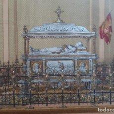 Arte: SEPULCRO DEL GENERAL D. JUAN PRIM (BASÍLICA DE ATOCHA, MADRID) - CROMOLITOGRAFÍA ORIGINAL - CA. 1880. Lote 204473313