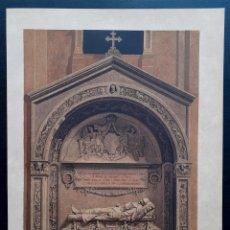 Arte: SEPULCRO DEL GENERAL O'DONNELL - CROMOLITOGRAFÍA ORIGINAL DEL SIGLO XIX - CA. 1880 - 33 X 23 CM.. Lote 204475163