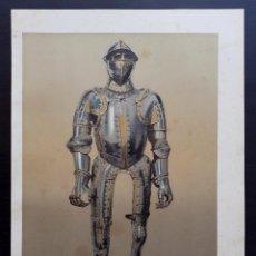Arte: ARMADURA DE CARLOS V - CROMOLITOGRAFÍA ORIGINAL DEL SIGLO XIX - CA. 1880 - 33 X 23 CM.. Lote 204475251