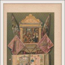 Arte: OBJETOS DE LOS REYES CATÓLICOS - ALTAR, PENDONES, MISAL - CROMOLITOGRAFÍA ORIGINAL - AÑO 1930. Lote 204478923