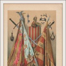 Arte: OBJETOS HISTÓRICOS DE VALENCIA Y DE SU CONQUISTADOR DON JAIME I - CROMOLITOGRAFÍA - AÑO 1930. Lote 204479095