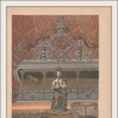 Arte: RESTOS Y OBJETOS DE DON FERNANDO III EL SANTO, REY DE CASTILLA - CROMOLITOGRAFÍA ORIGINAL - AÑO 1930. Lote 204480797