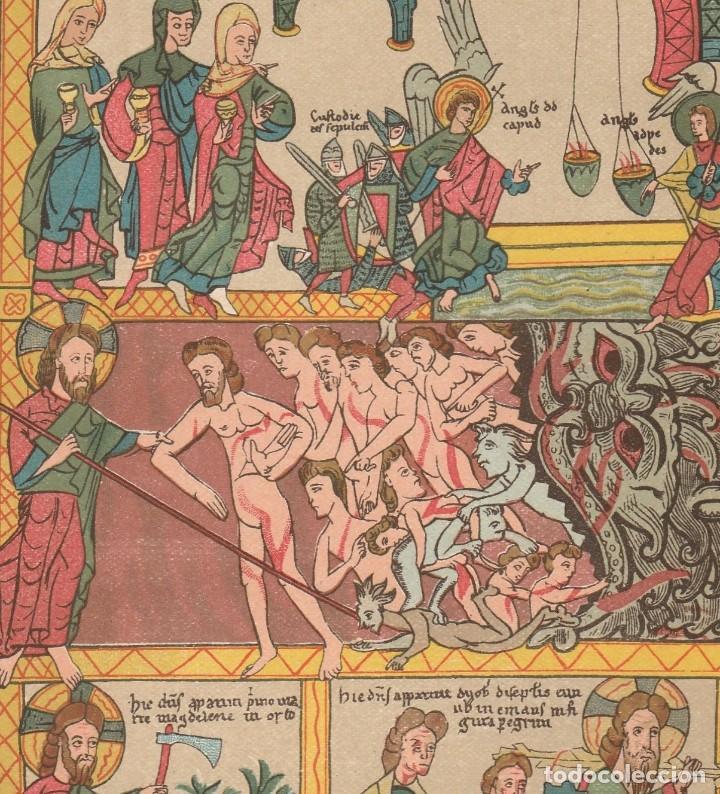 Arte: Miniatura de un Biblia Medieval del Siglo XII - Arte - Edad Media - Cromolitografía - Año 1930 - Foto 3 - 204480956