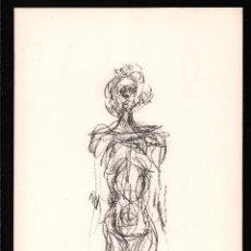 Arte: ALBERTO GIACOMETTI / MUJER DE PIE. CROMOLITOGRAFÍA . TEXTO AL DORSO. Lote 29707700
