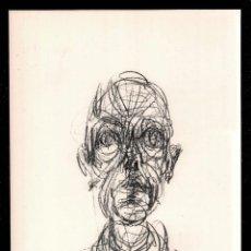 Arte: ALBERTO GIACOMETTI / RETRATO DE HOMBRE . CROMOLITOGRAFÍA. TEXTO AL DORSO. Lote 29707759