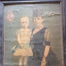 Arte: RETRATO DE LA REGENTE MARIA CRISTINA Y ALFONSO XIII. ULTRAMAR. CUBA. FILIPINAS. 1898.. Lote 205454685