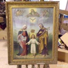 Arte: GRAN CROMOLITOGRAFIA RELIGIOSO LEIBER MARCO ANTIGUO BUENA MEDIDA. Lote 205827162