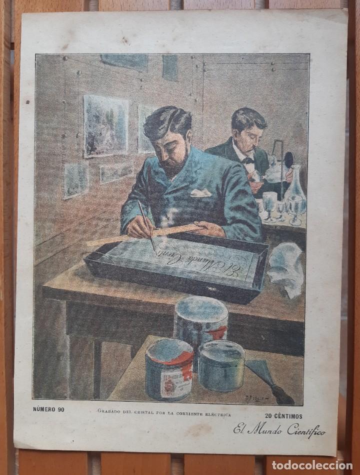 Arte: Colección de 4 cromolitografías industriales del siglo XIX/Método trasplante árboles- Tren Tibidabo - Foto 2 - 199870905
