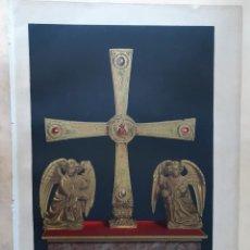 Arte: 3 CROMOLITOGRAFÍAS SIGLO XIX DE HISTORIA DE ESPAÑA: CRUZ OVIEDO, CRUZ VISIGODA Y CONDES BARCELONA. Lote 205847388