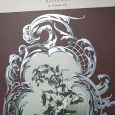 Arte: CROMOLITOGRAFIA FLORES DENTRO MARCO ROCOCO DISEÑO ACUARELA DE JOH. BECCKMANN DEKORATIVE VORBILDER. Lote 206123983
