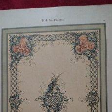 Arte: CROMOLITOGRAFIA PLAFON ROCOCO ALEGORIA DE ANGELES POR ADAM GATTERNICHT DEKORATIVE VORBILDER. Lote 206225263
