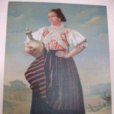 Art: ALBACETE HELLÍN - CROMOLITOGRAFÍA TRAJE REGIONAL FINALES SIGLO XIX - DIBUJADO POR M. CASTELLANO. Lote 210002481