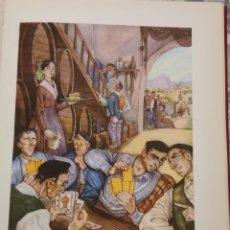 Arte: GUIPUZCOA, EN LA SIDRERIA, CROMOLITOGRAFIA AÑOS 40 TEODORO DELGADO ILUSTRADOR 24 X 32 CMTS. Lote 210440617