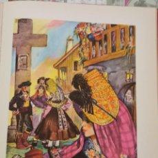 Arte: MONTEHERMOSO, CACERES, CROMOLITOGRAFIA AÑOS 40 TEODORO DELGADO ILUSTRADOR 24 X 32 CMTS. Lote 210441386