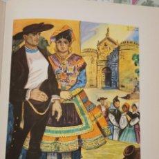 Arte: TOLEDO, TIPOS DE LAGARTERA, CROMOLITOGRAFIA AÑOS 40 TEODORO DELGADO ILUSTRADOR 24 X 32 CMTS. Lote 210441730