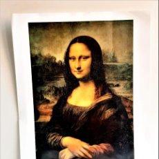 Arte: 1452-1519 LEONARDO DA VINCI FOTOCROMIA LA GIACONDA - CERTIFICADA Y NUMERADA DETRAS 33X43.CM. Lote 210970570