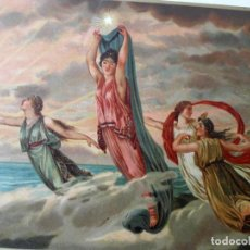 Arte: CROMOLITOGRAFÍA CIRSÉ SE DIRIGE A LA RIBERA DEL MAR PARA RECIBIR A ULISES. Lote 212793271