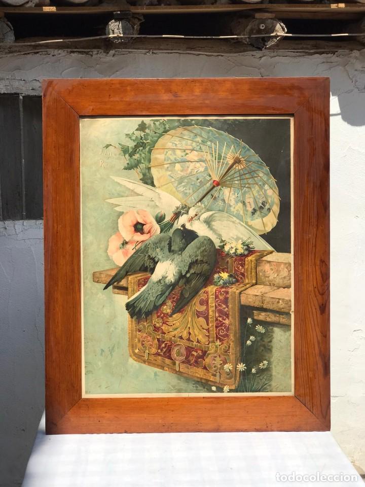 CUADRO DE JULIETA Y ROMEO ESTAMPACIÓN A COLOR-OLEOGRAFIA (Arte - Cromolitografía)